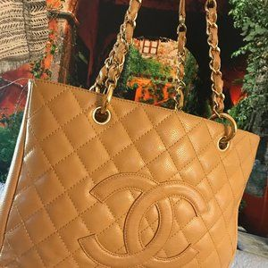 Chanel Grand Shopper GST Dark Beige Caviar